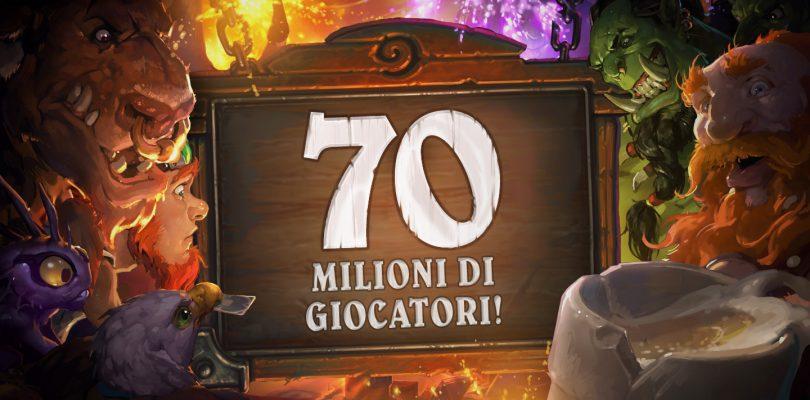 Hearthstone celebra i 70 milioni di giocatori!