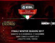 ESL Italia Championship: al via le finali della Winter Season 2017 del più celebre campionato di eSport italiano