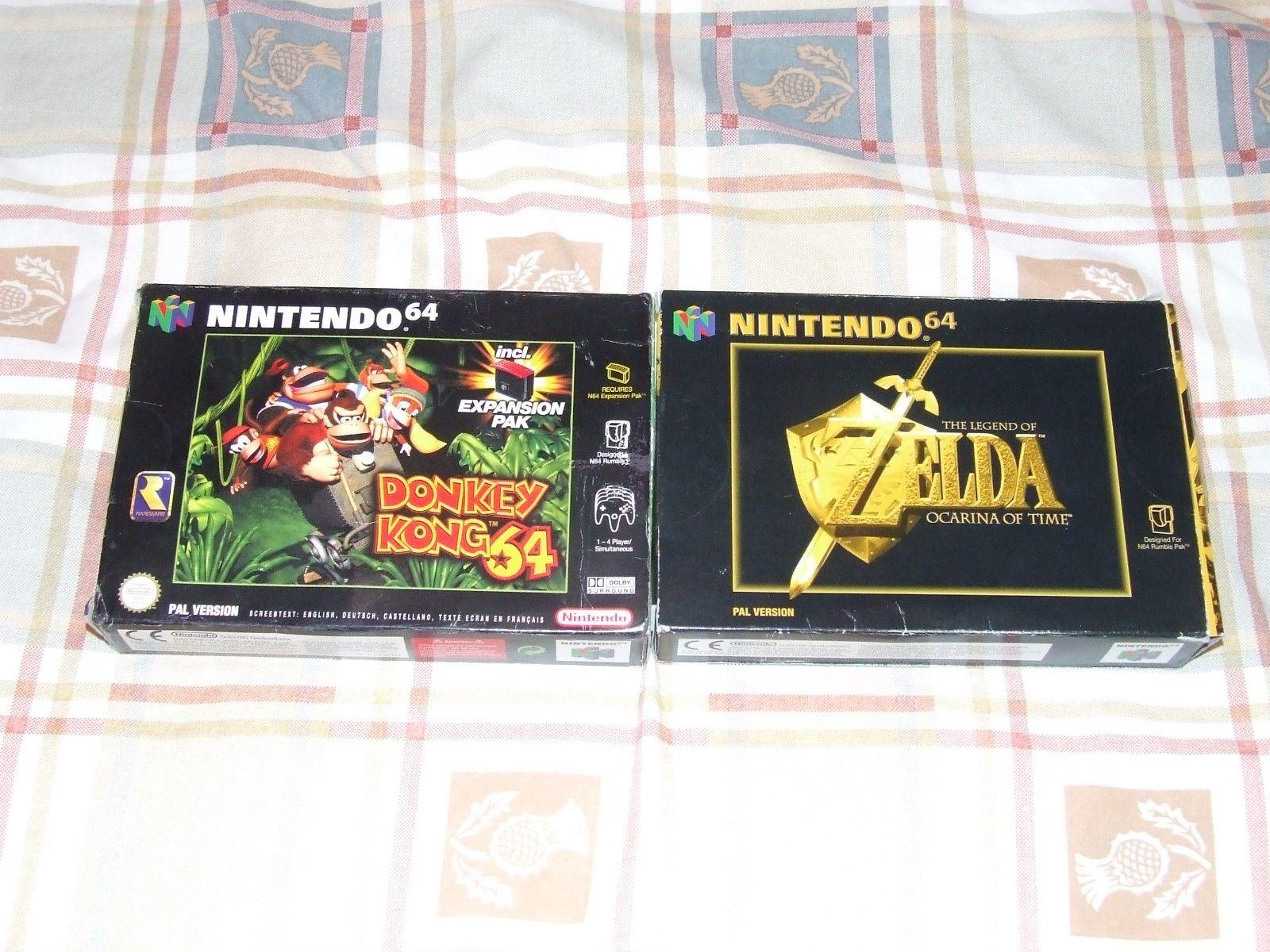 Zelda Ocarina of Time e Donkey Kong 64 asta
